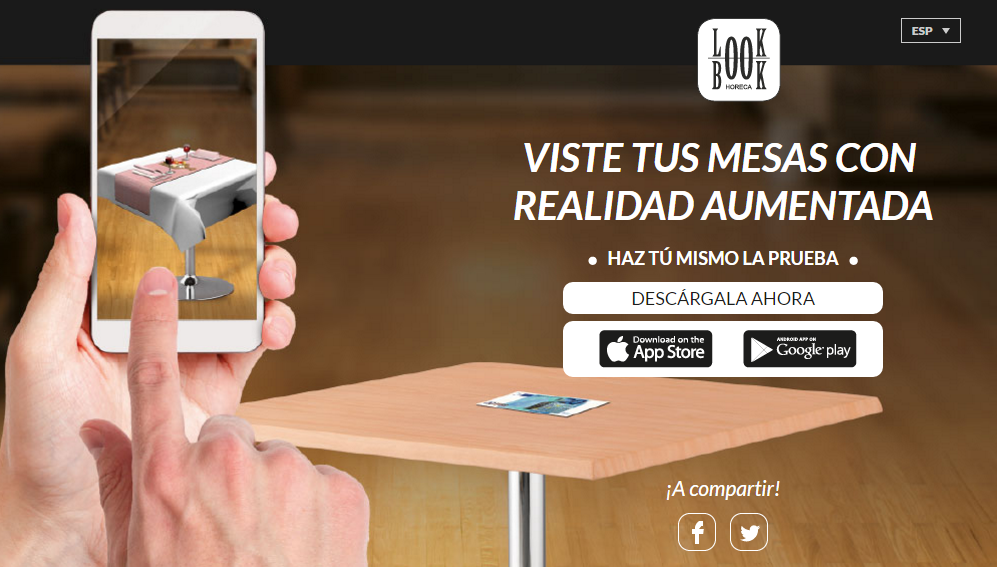 App LookBook La Pajarita manteles y servilletas