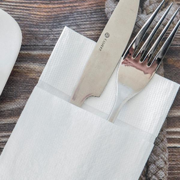 servilletas de papel blancas Kangaroo para hosteleria