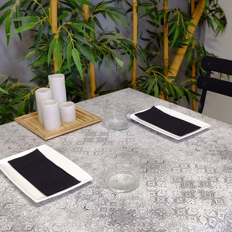 manteles de papel decorados gama tesela negro la pajarita mapelor