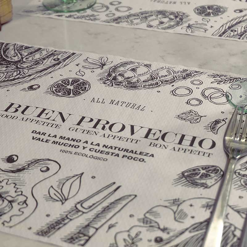 manteles-de-papel-35x50-buen-provecho-ecologicola-pajarita-mapelor